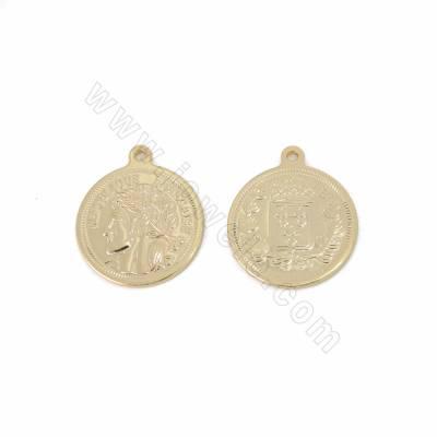 Brass Pendants, Coin, Gold...