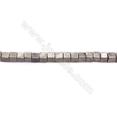 Natural Pyrite Beads Strand  Cube   Size 6x6mm  Hole 1mm  about 64 beads/strand 15~16""