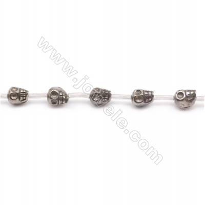 Natural Pyrite Beads Strand  Skull   Size 8x8mm  Hole 1mm  about 25 beads/strand 15~16""
