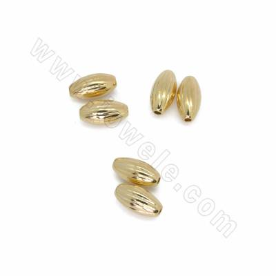 Brass Spacer Beads, Rice...
