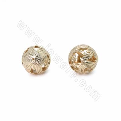 Brass Hollow Beads,...