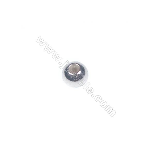 925 sterling silver beads, 2mm, x 200pcs, hole 0.8mm