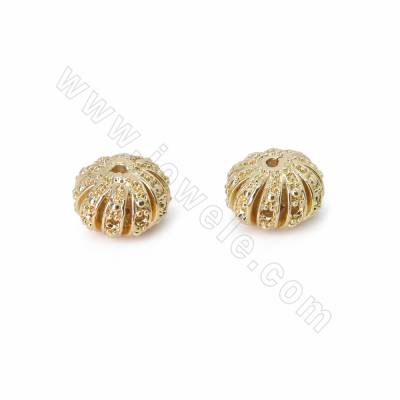 Brass Spacer Beads, Hollow...