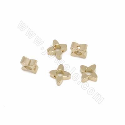 Brass Spacer Beads, Star,...