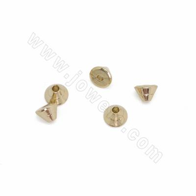 Brass Spacer Beads, Cone,...