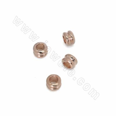 Brass Spacer Beads, Rose...