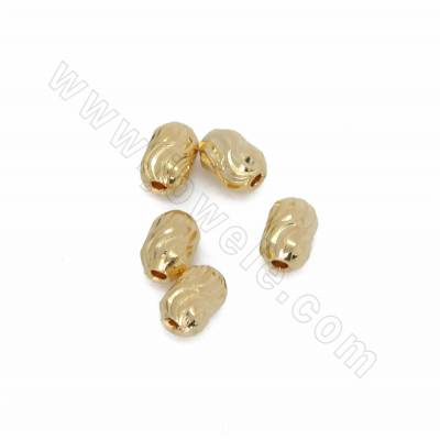 Brass Spacer Beads, Barrel,...