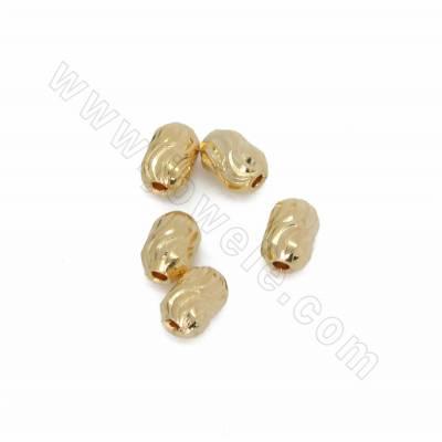 Brass Spacer Beads, Barrel,...