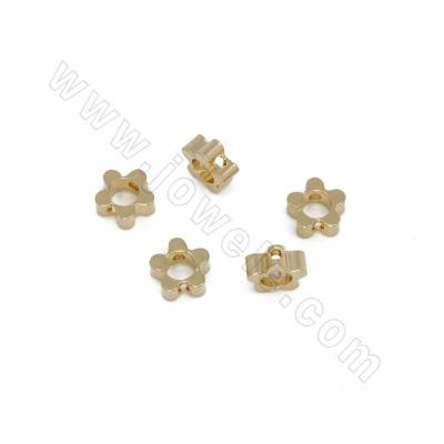 Brass Spacer Beads, Flower,...