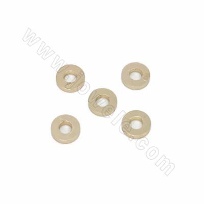 Brass Bead Spacers, Flat...