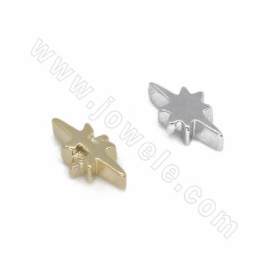 Brass Spacer Beads, Star,...