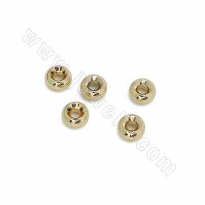Brass Spacer Beads, Donut,...