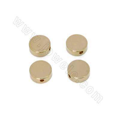 Brass Spacer Beads, Flat...