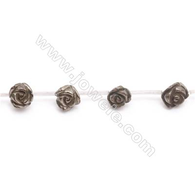 Natural Pyrite Beads Strand  Rose   Size 12x12mm  Hole 1mm  about 17 beads/strand 15~16""