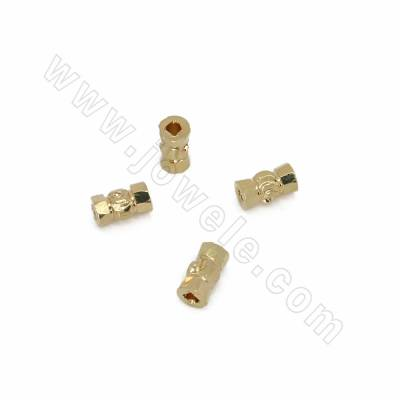 Brass Spacer Beads, Tube,...