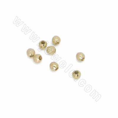 Brass Spacer Beads, Round,...