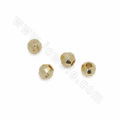 Brass Spacer Beads, Faceted...