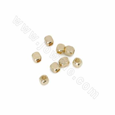 Brass Spacer Beads, Square,...