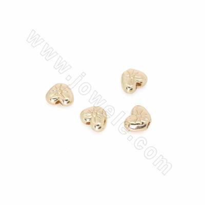 Brass Spacer Beads, Heart,...