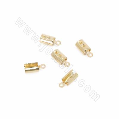 Brass Crimp Cord Ends, Real...