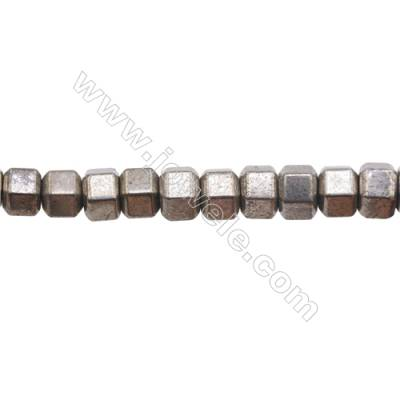 Natural Pyrite Beads Strand   Size 8x10mm  Hole 1mm  about 39 beads/strand 15~16""