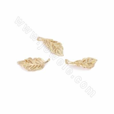 Brass Pendants, Leaf,...
