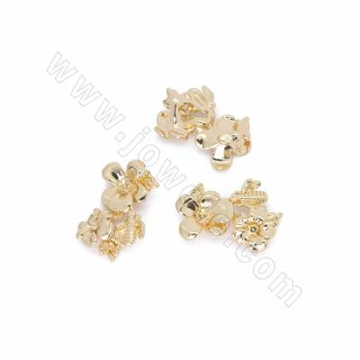 Brass Charms, Flower, Real...