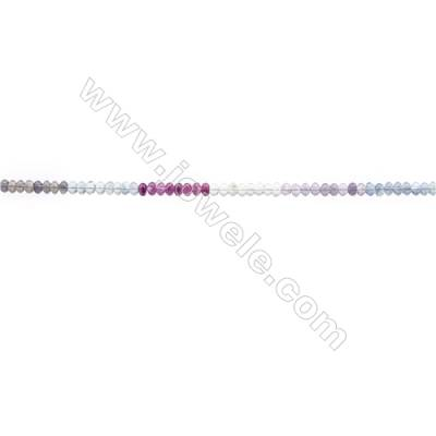 Natural Fluorite Beads Strand  Abacus  Size 4x6mm  hole 0.8mm  94 beads/strand 15~16""