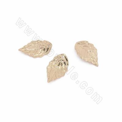 Brass Pendants, Leaf, Real...