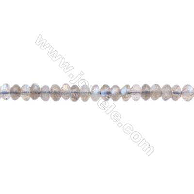 Natural Labradorite Beads Strand  Abacus   Size 4x6mm  Hole 0.8mm  about 125 beads/strand 15~16""