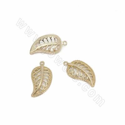 Brass Pendants, Leaves,...