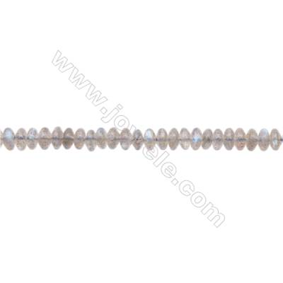 Natural Labradorite Beads Strand  Abacus   Size 3x6.5mm  Hole 0.8mm  about 121 beads/strand 15~16""