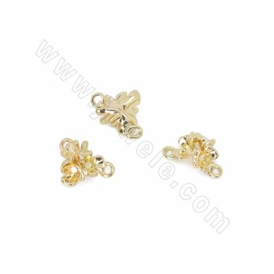 Brass Connectors, Flower,...