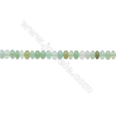 Natural  Chrysoprase Beads Strand  Abacus   Size 4x6mm  Hole 0.8mm  about 111 beads/strand 15~16""