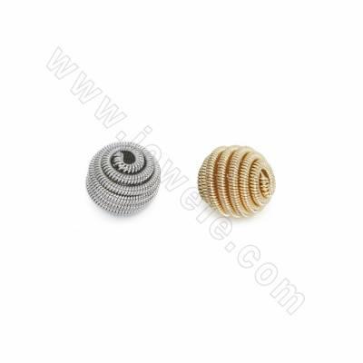Brass Beads, Spiral Beads,...