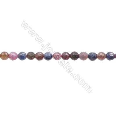 Natural  Ruby Sapphire Beads Strand  Round   Diameter 6mm  Hole 1mm  about 70 beads/strand 15~16""