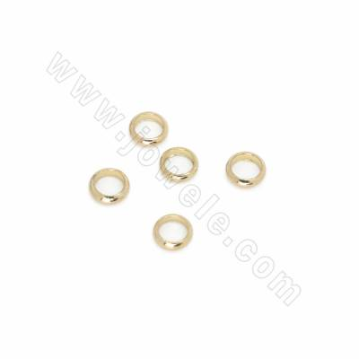 Brass Bead Spacers, Circle,...
