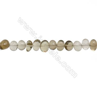 "Natural Lemon Quartz Beads Strand  Irregular  About 6~8 x 8~10mm  Hole 1mm  15~16"" x 1strand"