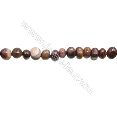 "Natural Mookaite Beads Strand  Irregular  Size 6~9 x 9~10mm  hole 1mm 15~16"" x 1strand"