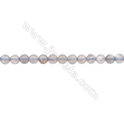 Natural Labradorite Beads Strand  Round  Diameter 5mm  hole 0.8mm  about 84 beads/strand 15~16""