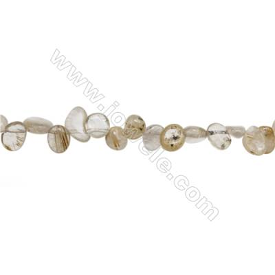 "Natural Rutilated Quartz Beads Strand, Irregular, Size 4~5mm x8~15mm, Hole 1mm, 15~16""/strand"