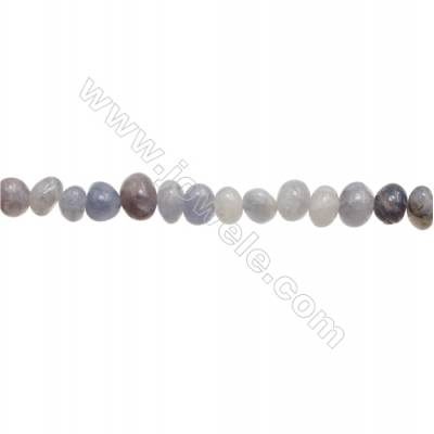"Natural Tanzanite Beads Strand  Irregular  Size 6~9 x 8~12mm  hole 1mm  15~16"" x 1strand"