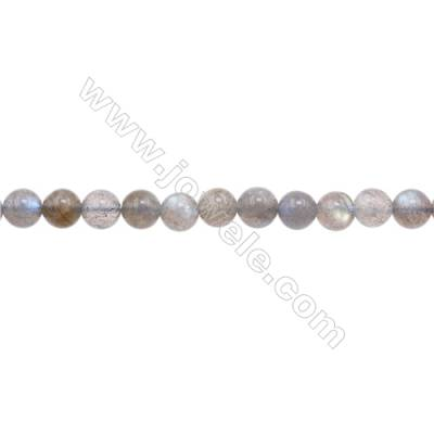Natural Labradorite Beads Strand  Round  Diameter 7mm  hole 1mm  about 61 beads/strand 15~16""