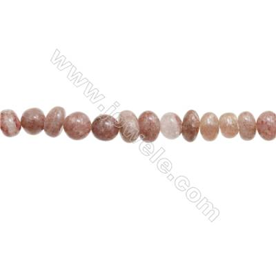 "Natural Strawberry Quartz Beads Strand  Size 6~9x9~10mm  hole 1mm  15~16"" x 1strand"