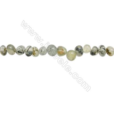 "Natural Prehnite Beads Strand  Irregular  Size 6~9x9~12mm  hole 1mm  15~16"" x 1strand"