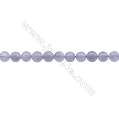 Natural AA Grade Tanzanite Beads Strand  Round  Diameter 6mm  hole 1mm  about 60 beads/strand  15~16""