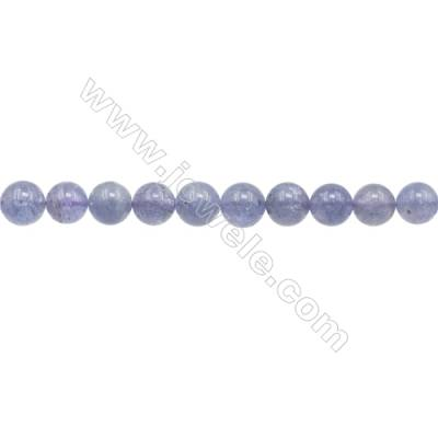 Natural AA Grade Tanzanite Beads Strand  Round  Diameter 7mm  hole 1mm  about 55 beads/strand  15~16""