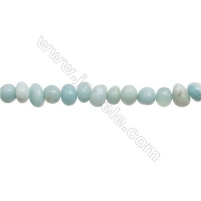 "Natural Amazonite Beads Strand  Irregular  About 6~8 mm x 8~10mm  hole 1mm  15~16"" x 1 piece"