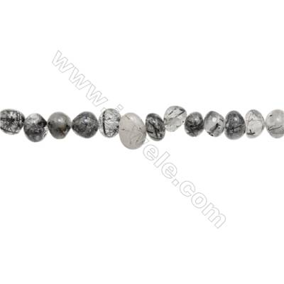 "Natural Rutilated Quartz Beads Strand  Irregular  about 6~9 x 8~13mmmm  hole 1mm  15~16"" x 1strand"
