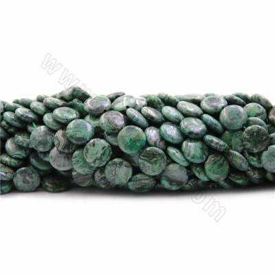 Green Picture Jasper Beads...